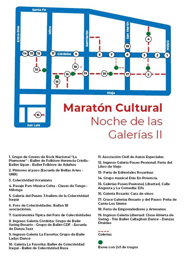Noche galerias rosario 2019